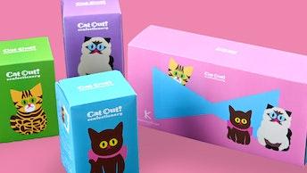 プレゼントにおすすめ!ヒマラヤン、ショコラねこ、ベンガルがセットになった〔猫の日セット(¥1,836/税込)〕