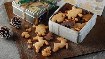 まるでパズルのような可愛いクッキーは限定70個〔クリスマスクッキーアソート( ¥3,800/税別)〕