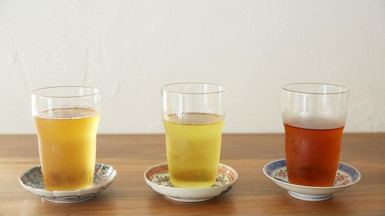 左から、東方美人茶(¥700/税込)、凍頂烏龍茶(¥650/税込)、紅玉18号紅茶(¥650/税込)