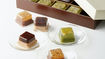 お中元など夏の贈り物には箱入りがおすすめ〔ショコラ水羊羹(15個入 ¥3,240/税込)〕