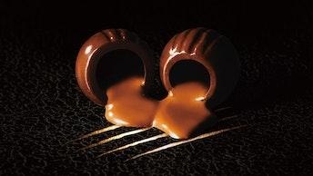 つけられた爪痕もかっこいい、とろけるような滑らかな舌触りのチョコレート