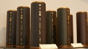 甘くとろりとした香りが楽しめる玉露(¥3,780~/税込)は、山本山の真髄が詰まった逸品