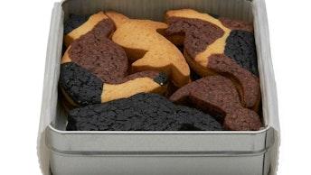 まるでパズルのよう!かわいい3種のクッキーアソート〔ukafe三毛猫クッキー(10枚 ¥1,800/税抜)