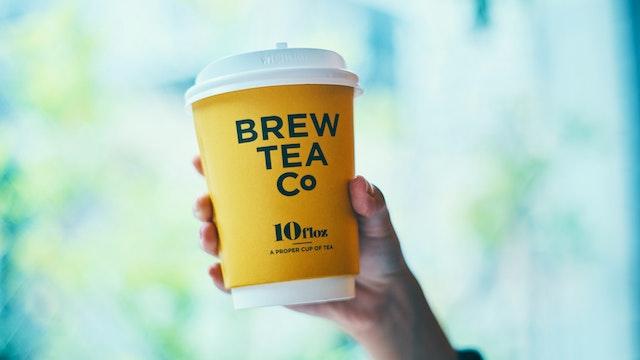 紅茶のテイクアウトはとびきりかわいいイエローのカップで!