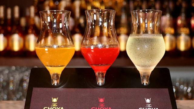 まるでカクテルの様な「3種類の梅酒シロップ」。最後は氷を溶かして梅酒カクテルとして飲むのもおすすめ