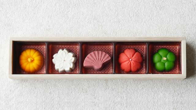 まるで和菓子のようなボンボンショコラ 「京・みやこ(¥2,200/税込)」