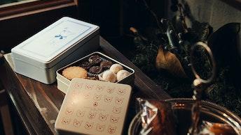 表情豊かな猫がキュート!クッキー4種の詰め合わせ〔ボワット レシャ(¥1,700/税抜)〕