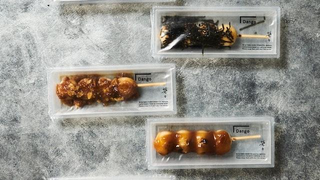 お団子とは思えないモダンなパッケージ。味は全部で5種〔DANGO(各 ¥180)〕