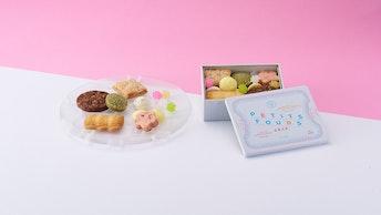 色とりどりの焼き菓子を詰め合わせた春のふきよせ ミニ缶(¥1,800/税抜)
