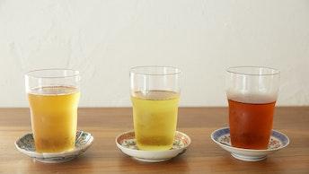 氷とセットで楽しめる中国茶(+400円)。お店で出している全てのお茶(温・冷)が選べます