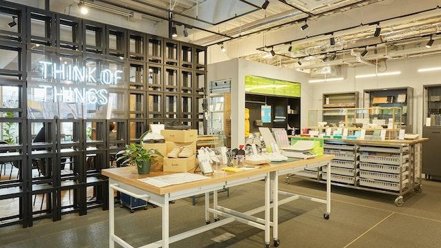 おしゃれな文具や雑貨、インテリアアイテムがディスプレイされている店内