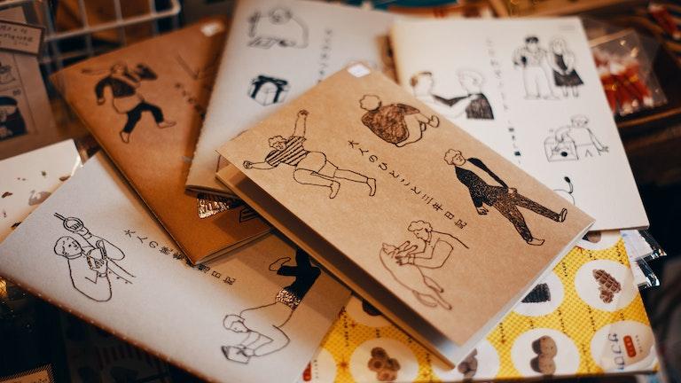 「大人のひとこと3年日記」なんていうおもしろ系ノートの種類も豊富