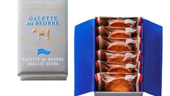 発酵バターの香りと味わいがしっかり感じられる〔ガレット オ ブール カリテ エキストラ(6個入 ¥1,080/税込)〕