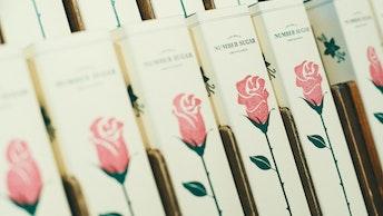 3分咲き、5分咲き、満開と3つの絵柄がある8粒入りBOX(¥850/税抜)
