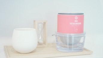 茶葉と一緒に1人分を簡単に淹れられる〔透明急須(¥3,785/税込)〕