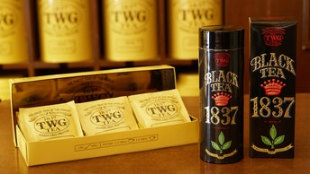 缶やティーバックも選べる〔1837 Black Tea(ティーバック ¥2,500・缶入り ¥4,000/税抜)〕