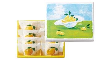 爽やかでかわいいパッケージは、ギフトにもぴったり「レモンのクリームサンド(8個入 ¥1,728/税込)」