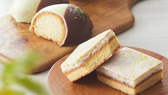 口溶け軽い仕上がりは夏の手土産に選びたい一品〔レモンケーキアソート(4個入 ¥1,350、8個入¥2,484/税込)〕