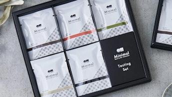 産地や熟成による風味の変化を楽しめる〔Tasting Set M(¥3,834/税込)〕