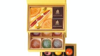 夏の味が楽しめる、ゼリーと生チョコレートのアソートもおすすめ〔ミニギフトボックス エテ(¥6,480/税込)〕