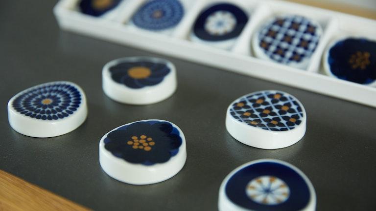 コスモス・アジサイ・タンポポなど5種の花をイメージした箸置〔Botanical(¥660・5個セット¥3,300/税込)〕