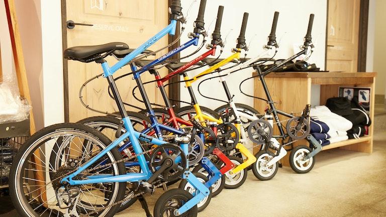 コンパクトでユニークなデザインが特徴の「ONE POINT FIVE」の自転車