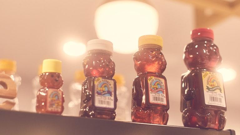 はちみつを使用したドリンクには、産地にこだわったハワイ産の天然ハチミツが使用されている。